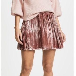 Madewell Pink Velvet Skirt NWOT